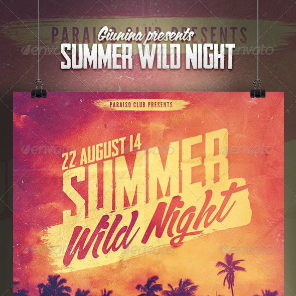 Summer Wild Night Flyer/Poster