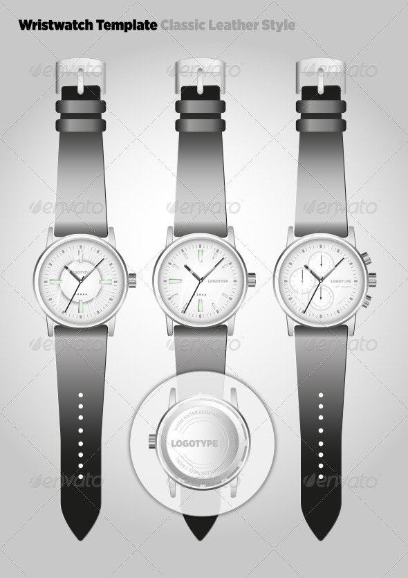 Classic Leather Watch - Objects Vectors