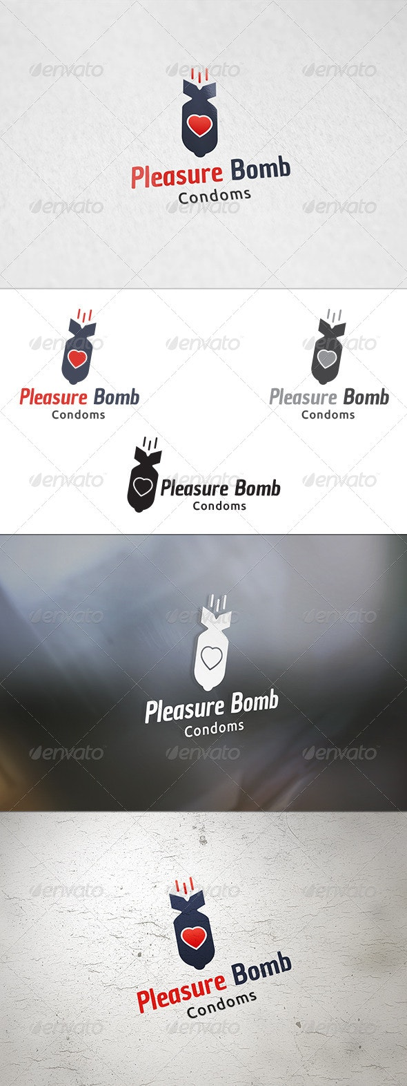 Pleasure Bomb - Logo Template - Objects Logo Templates