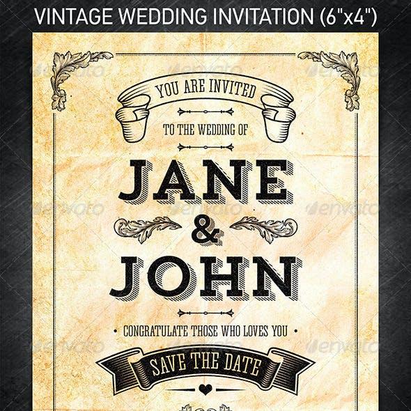 Vintage Wedding Invitation vol.2