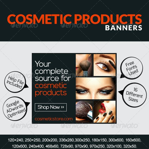 Cosmetic & Makeup Banners