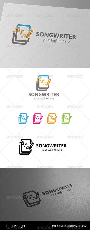 Songwriter Document Music Logo - Symbols Logo Templates