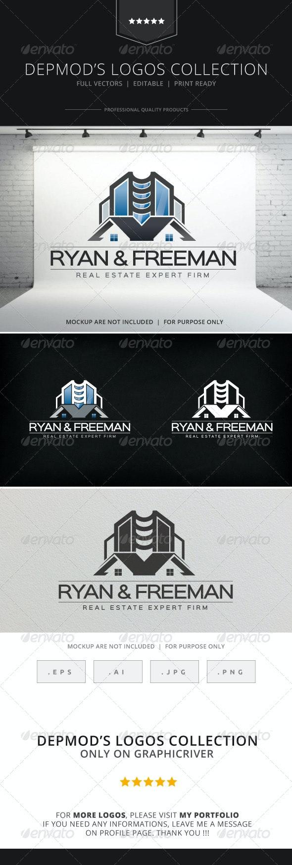 Ryan & Freeman Logo - Buildings Logo Templates