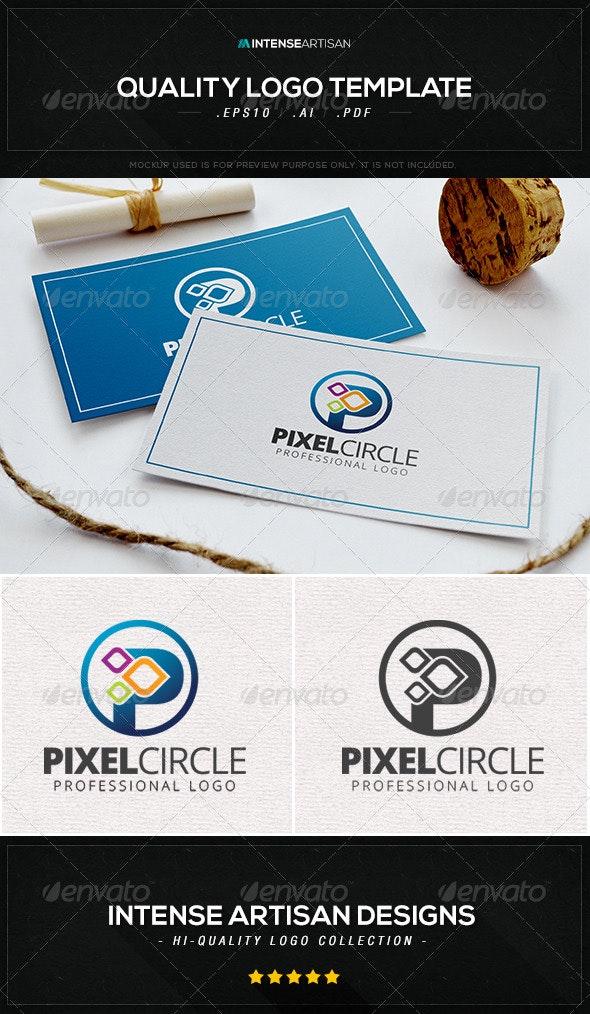 Pixel Circle Logo Template - Letters Logo Templates