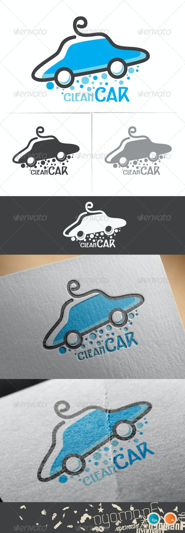 Clean Car Logo Template - Logo Templates