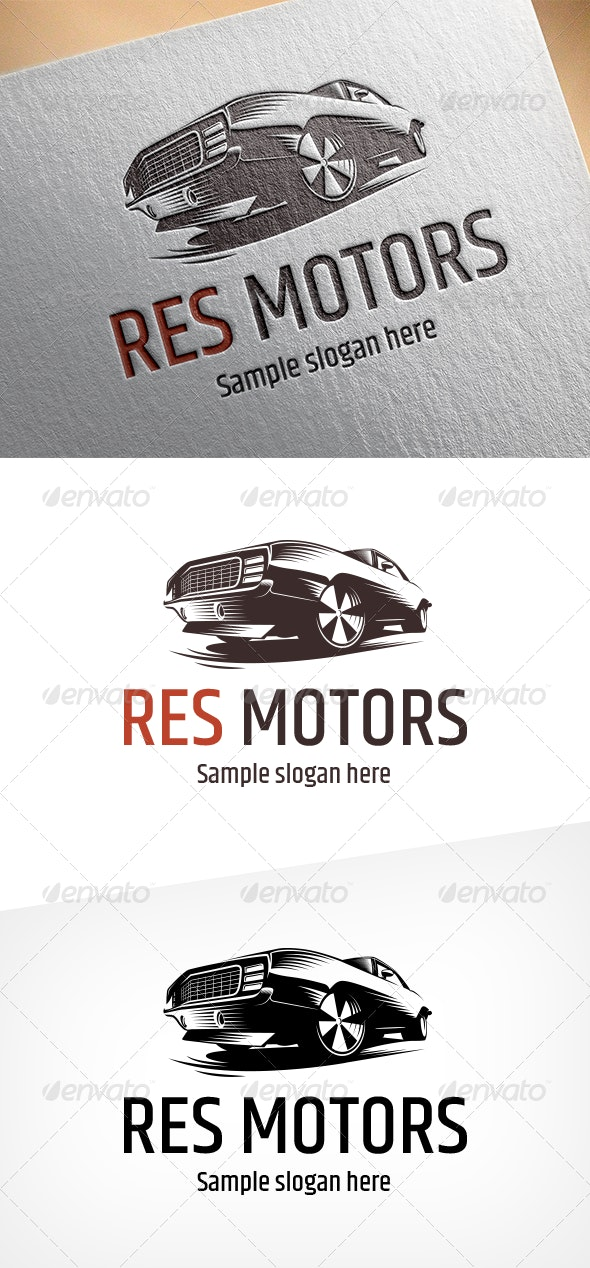 Res Motors Logo - Objects Logo Templates