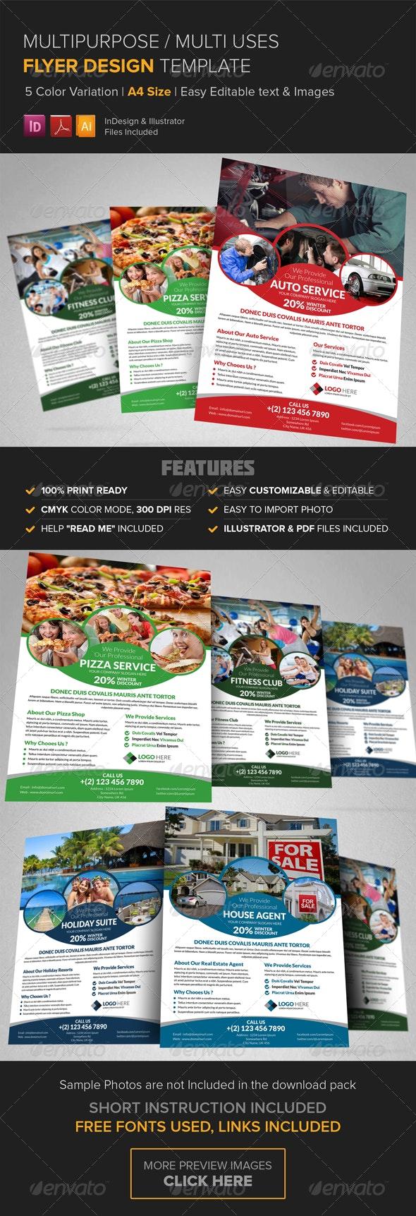 Multipurpose Business Flyer Design Template  - Corporate Flyers