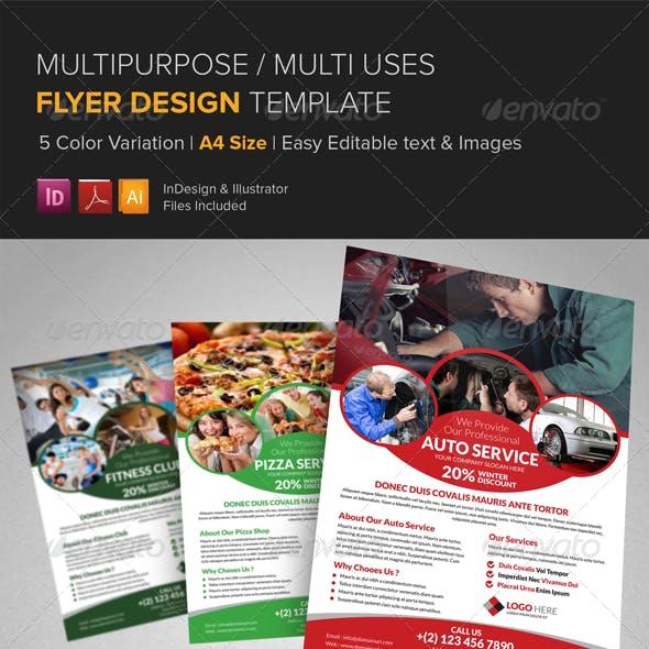 Multipurpose Business Flyer Design Template