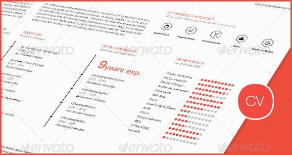 Clean Flat Resume (CV) - Resumes Stationery