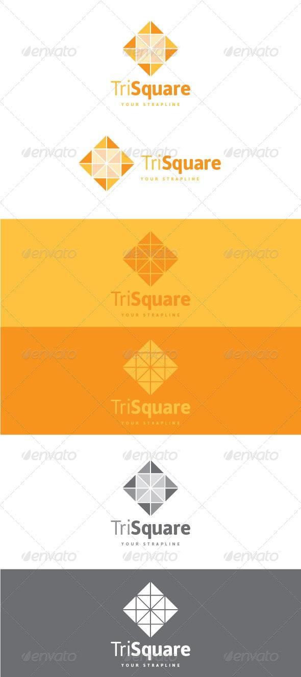 Tri Square Logo - Vector Abstract