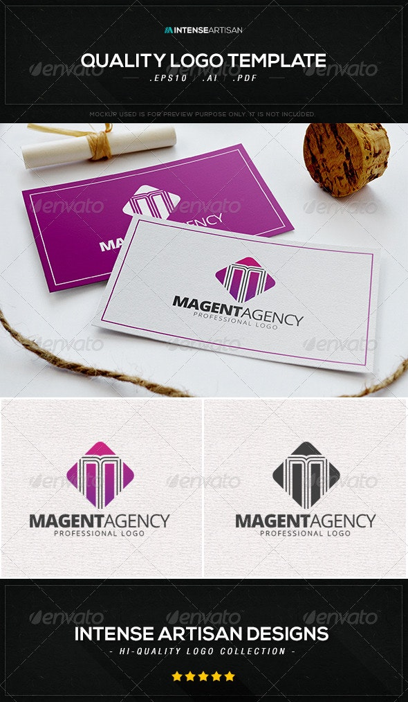 Magenta Agency Logo Template - Letters Logo Templates