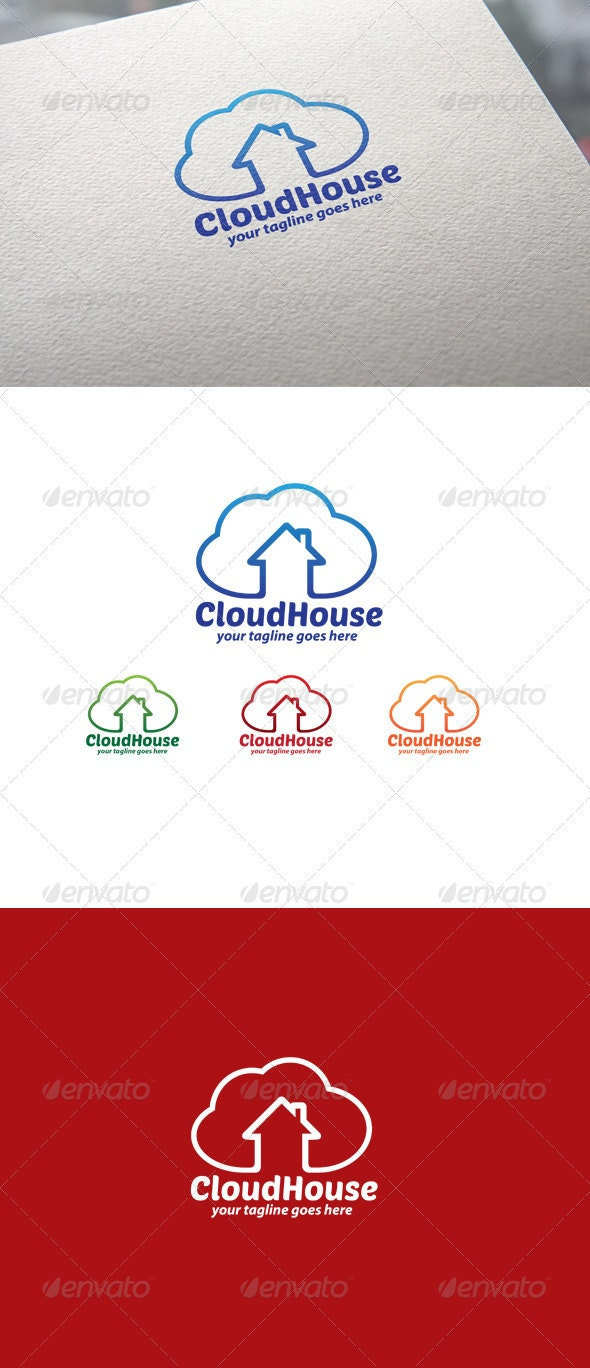 Cloud House - Objects Logo Templates