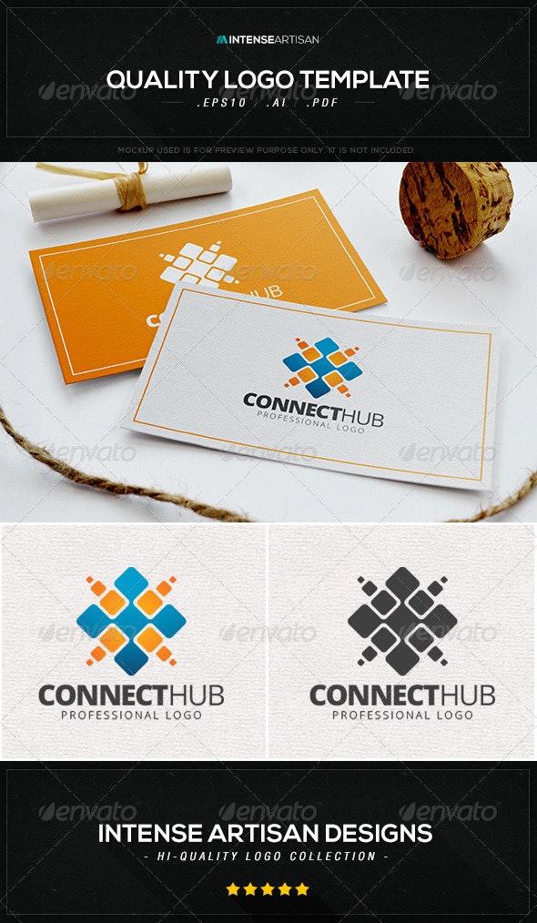 Connect Hub Logo Template - Abstract Logo Templates