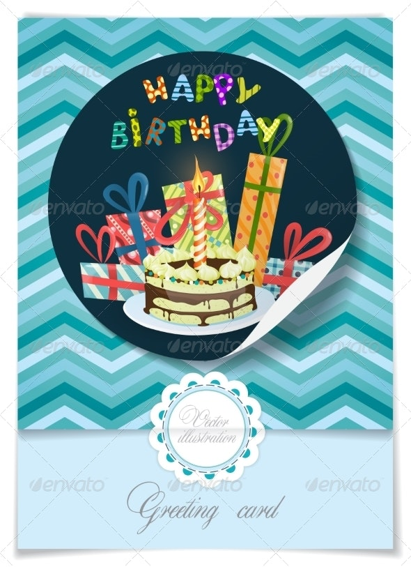 Greeting Card Design Template - Birthdays Seasons/Holidays