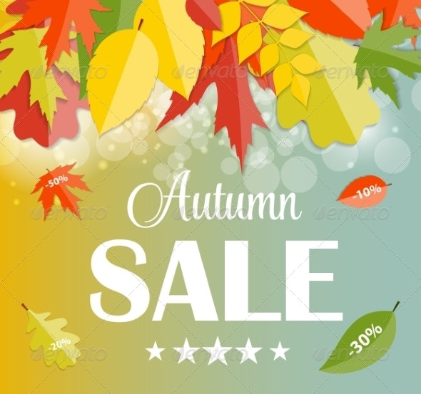 Autumn Sale Concept Vector Illustration - Seasons Nature