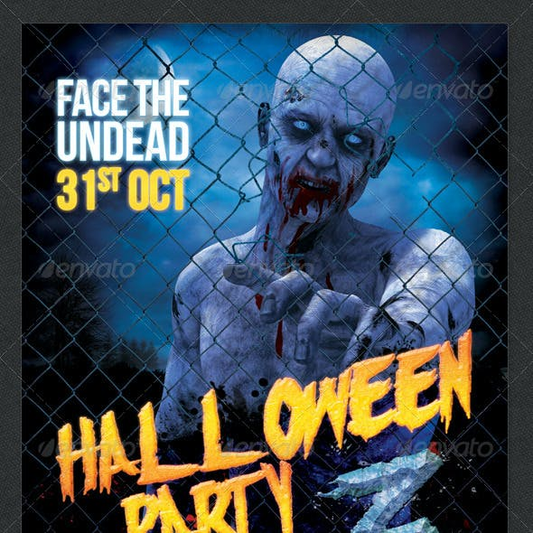 Halloween Party Z Zombie Themed Poster / Flyer