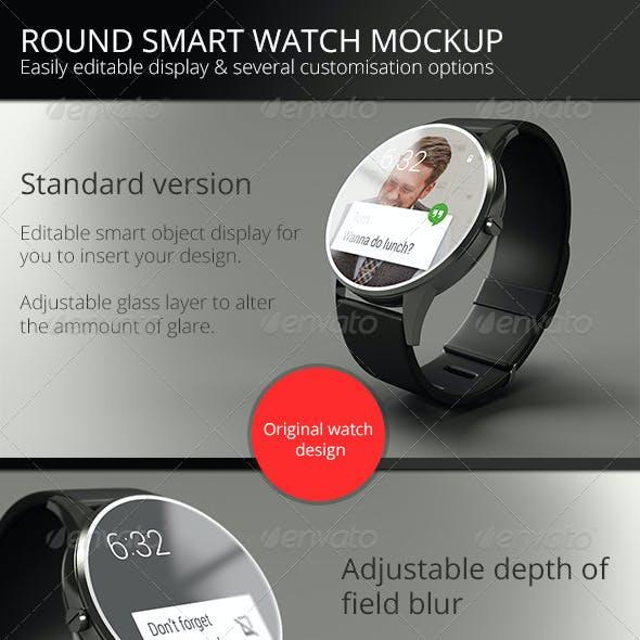 Round Smart Watch Mock-Up