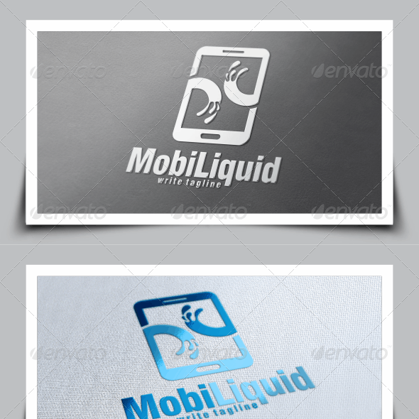 Mobile Liquid Logo Template