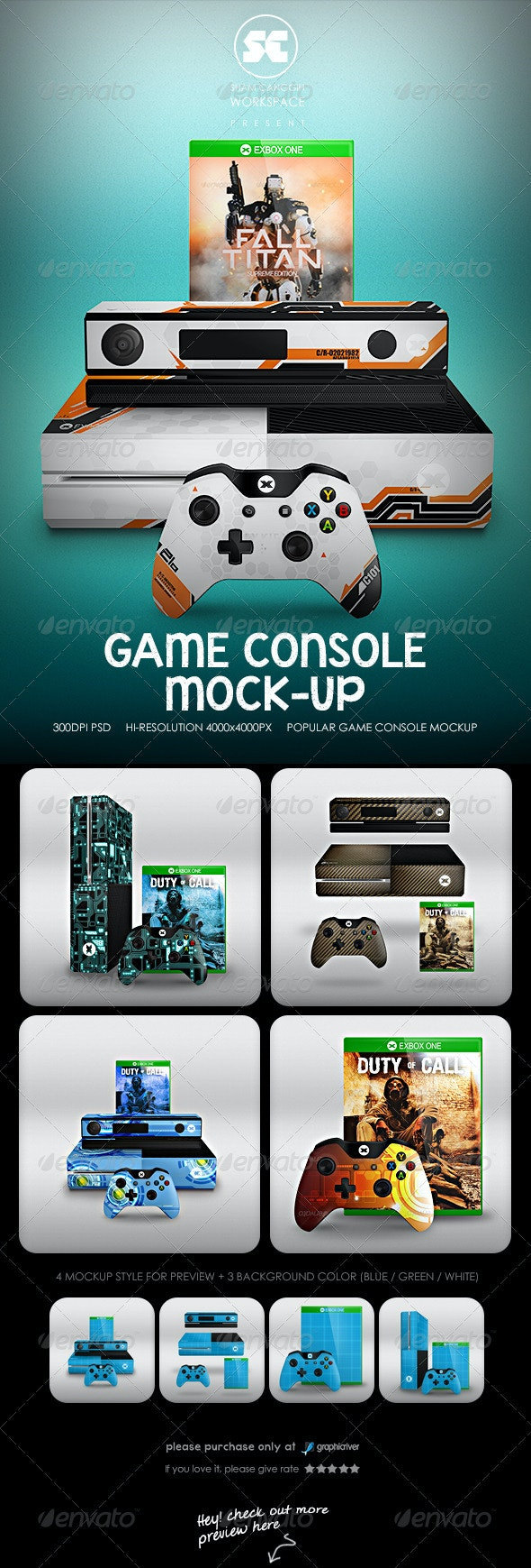 Game Console Mock-Up - Miscellaneous Product Mock-Ups