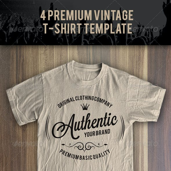 4 Premium T-Shirt Template