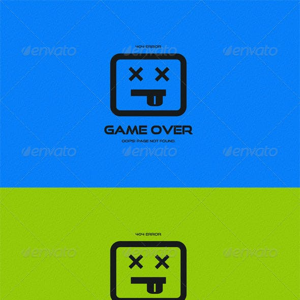 Game Over 404 Error Page