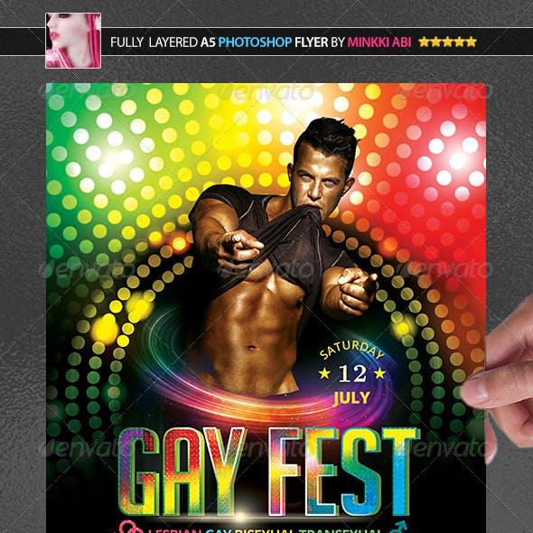 Gay Fest Poster/Flyer