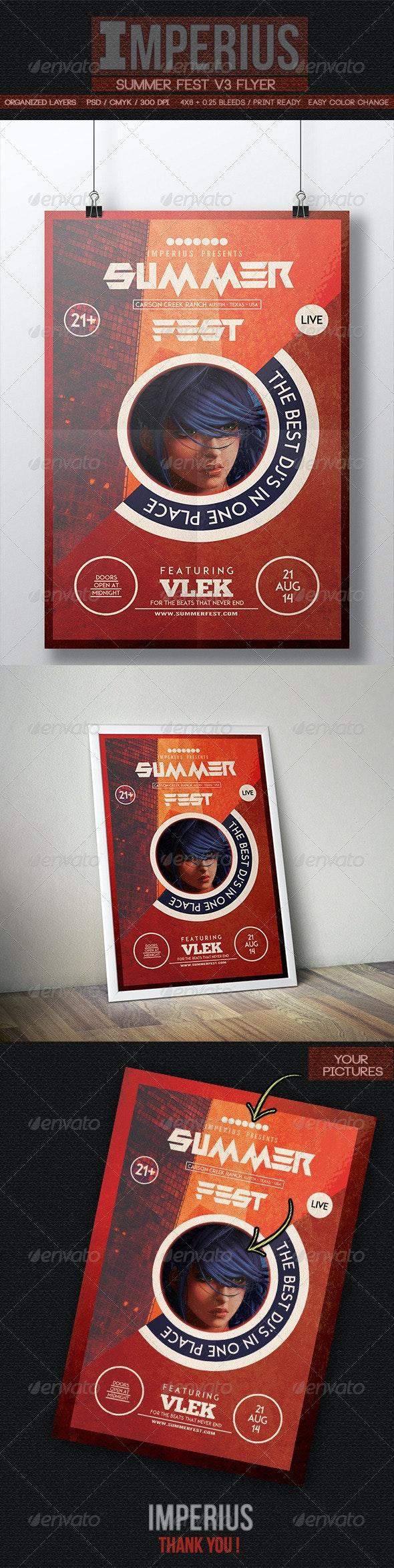 Summer Fest V3 - Flyers Print Templates