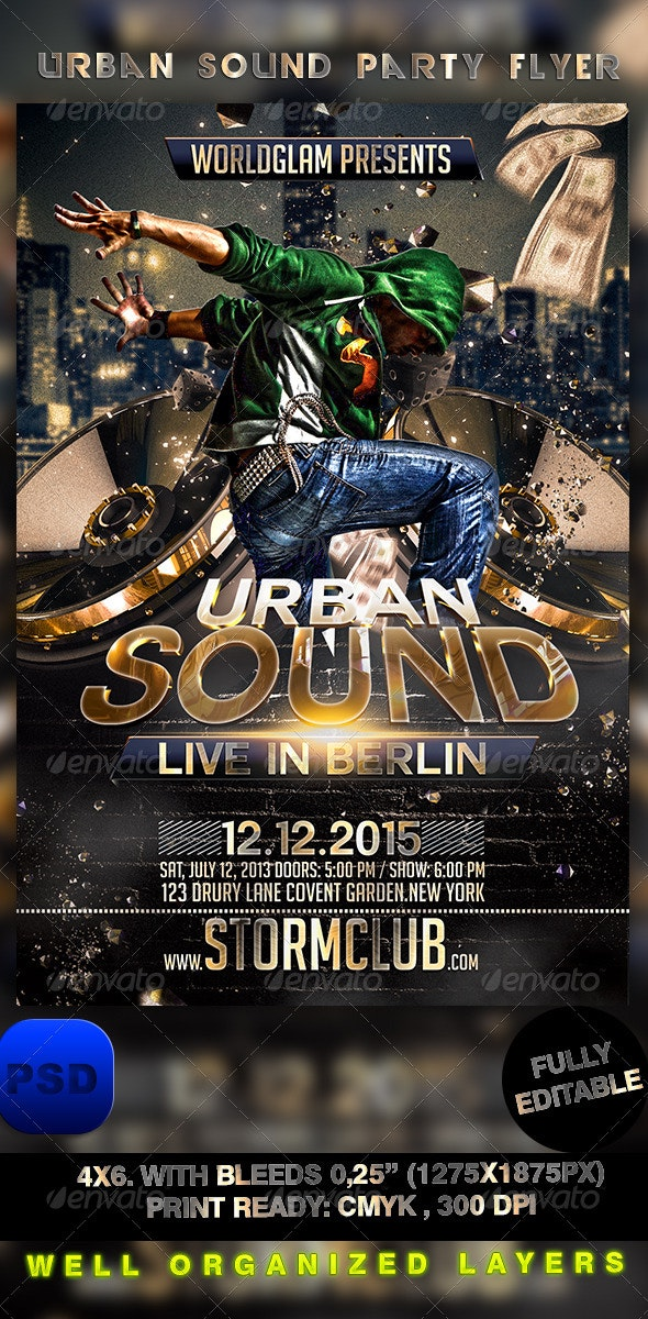 Urban Sound Party Flyer - Events Flyers