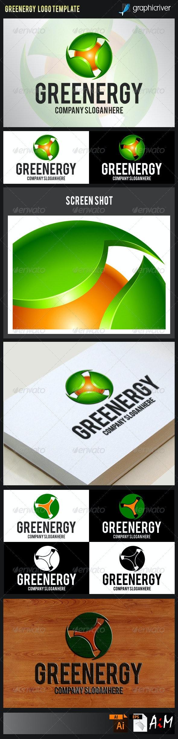 Natural Green Energy Logo - Nature Logo Templates