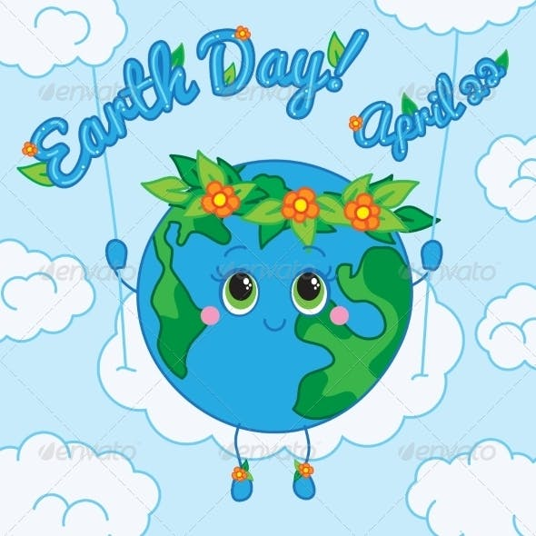 Earth Day 22 april Greeting card