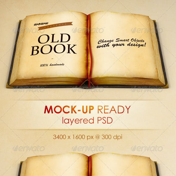 Old Book - High Resolution Illustration for Mockup