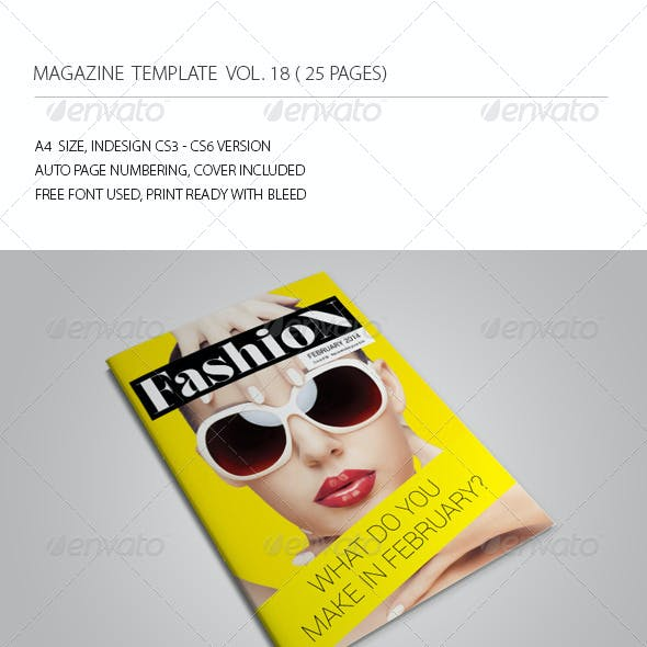 25 Pages Fashion Magazine Vol18 by -BeCreative-