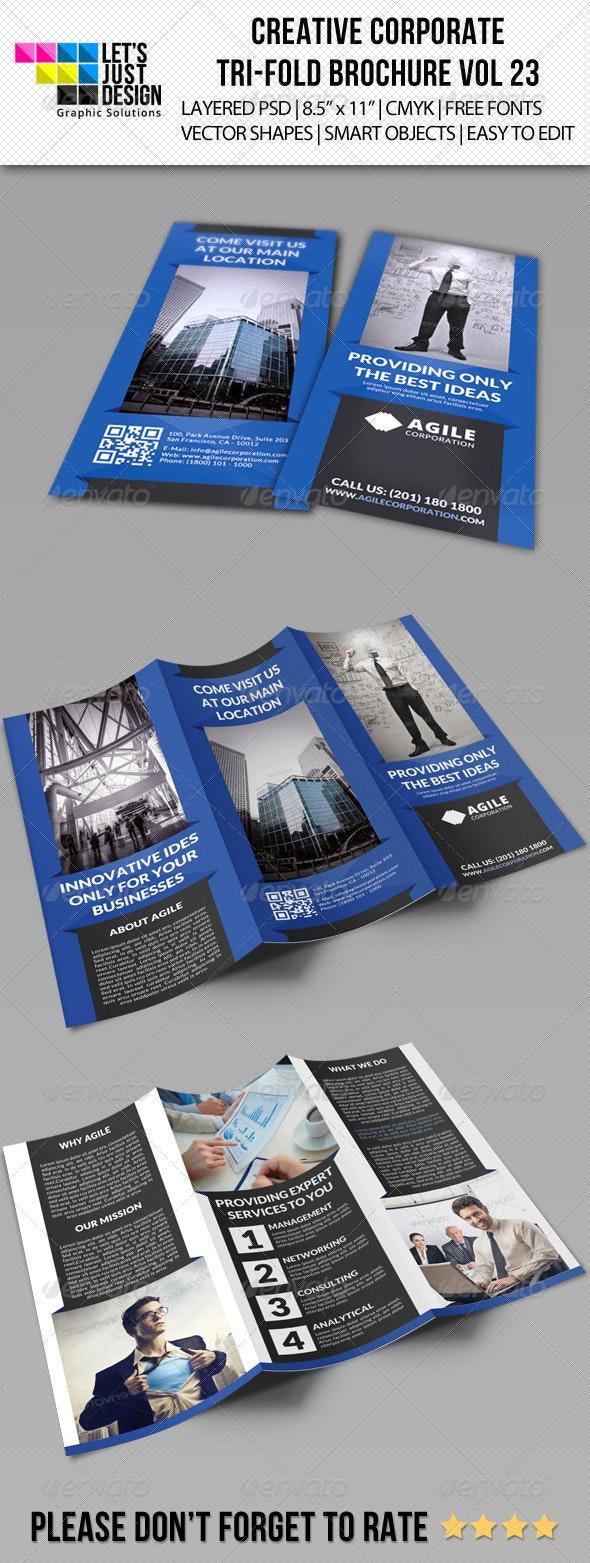 Creative Corporate Tri-Fold Brochure Vol 23 - Corporate Brochures