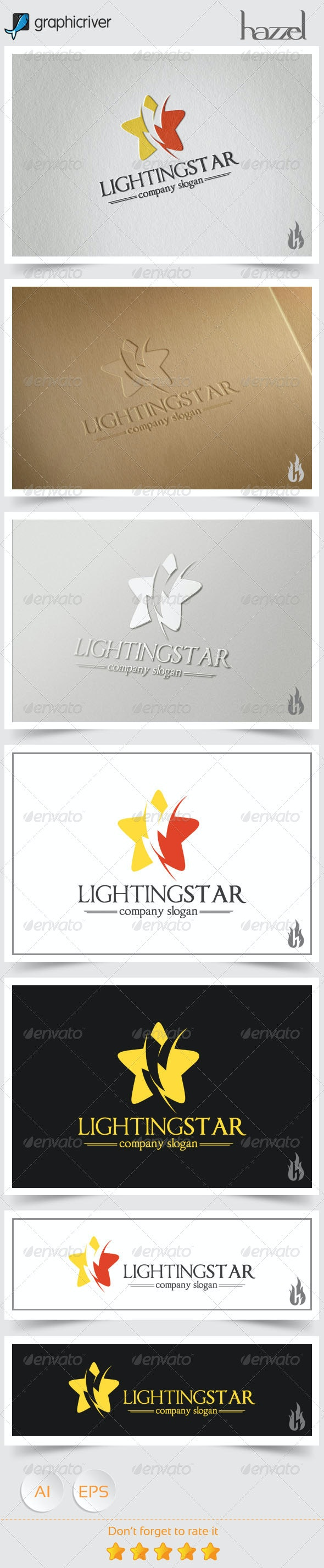 Lighting Star Logo - Nature Logo Templates