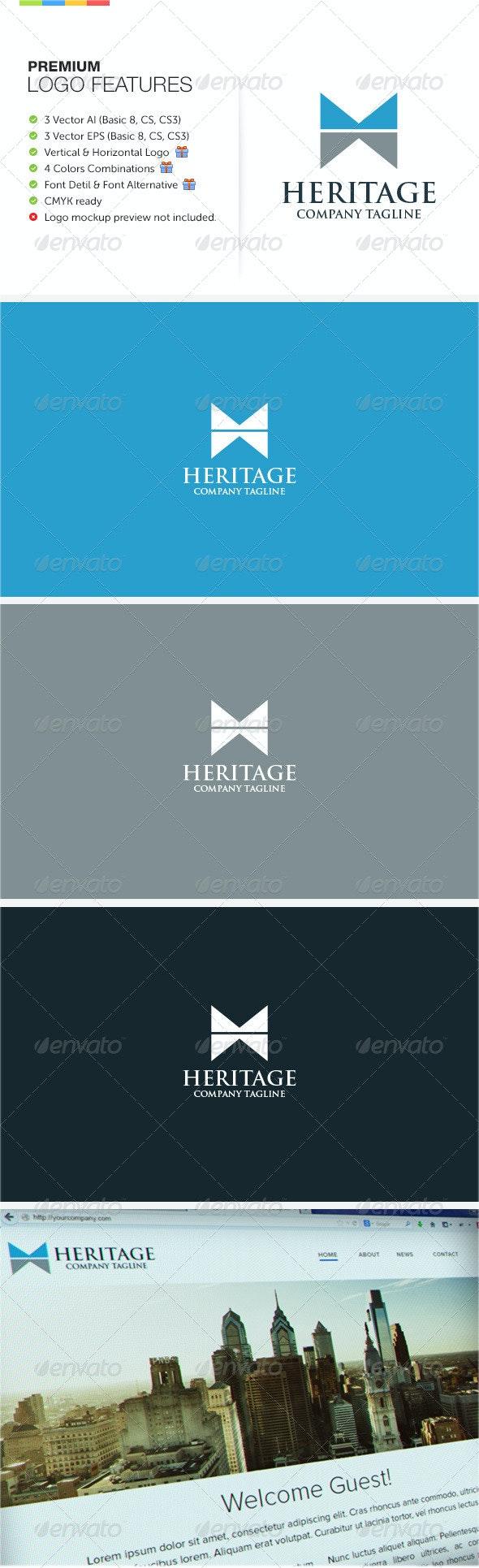 Heritage Logo - Letters Logo Templates