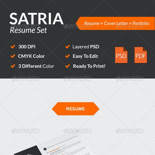 Satria Modern Resume Set