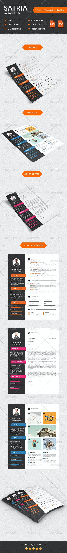 Satria Modern Resume Set - Resumes Stationery