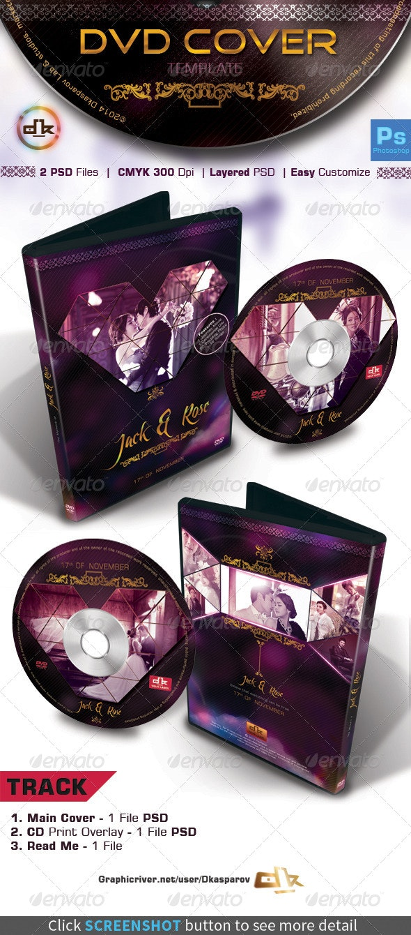 Wedding DVD Cover - Dimondu - CD & DVD Artwork Print Templates