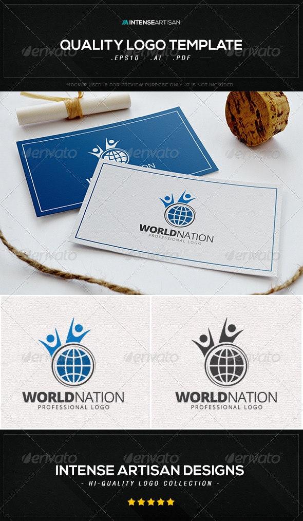 World Nation Logo Template - Humans Logo Templates