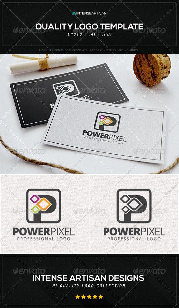 Power Pixel Logo Template - Letters Logo Templates