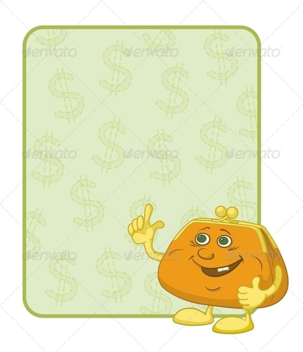 Purse and Poster with Dollars - Miscellaneous Characters