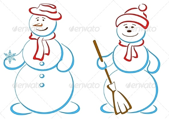 Pair of Snowmen - Miscellaneous Characters