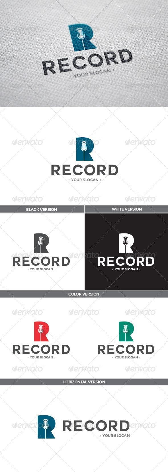 Record Logo - Objects Logo Templates