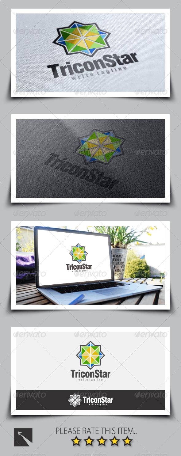 Tricon Star Logo Template - Abstract Logo Templates