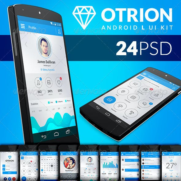 Otrion - Android L Mobile UI Kit