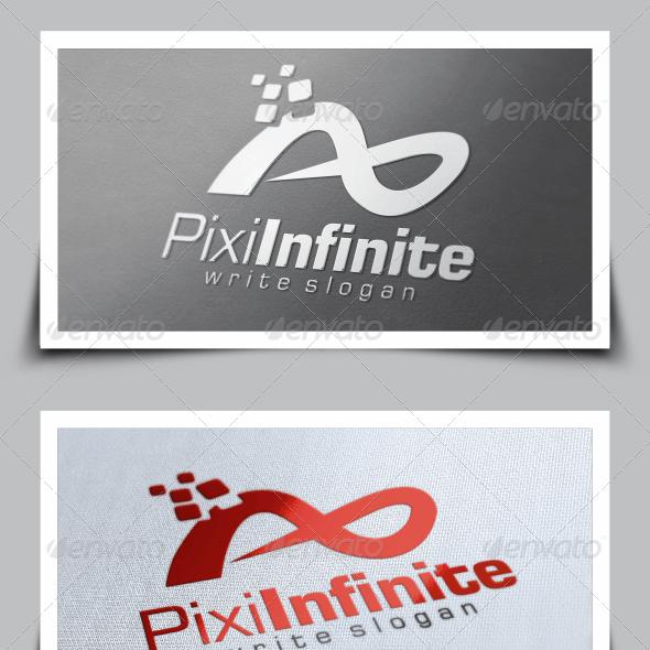 Pixel Infinity Logo Template