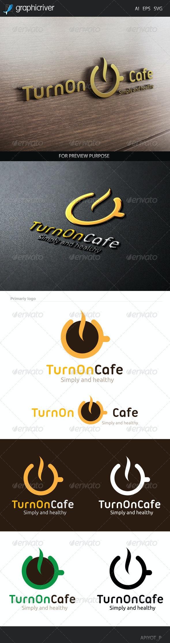 Turn on Cafe Logo - Food Logo Templates