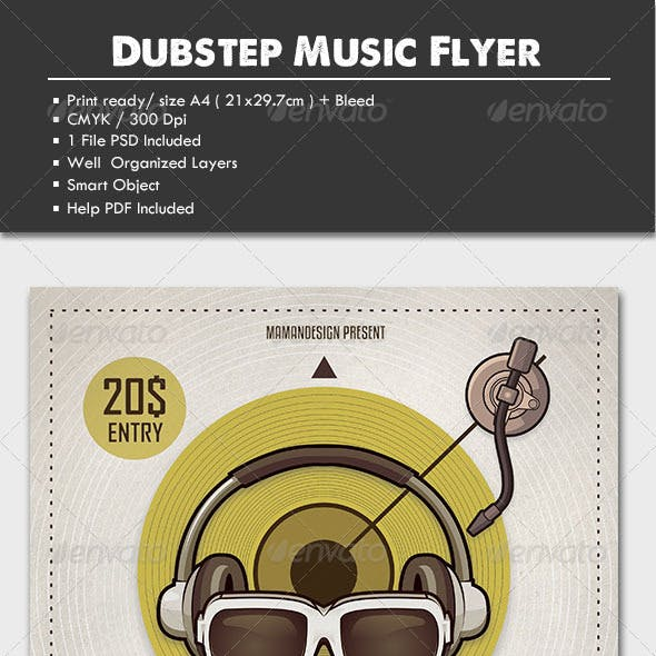 Dubstep Music Flyer/Poster