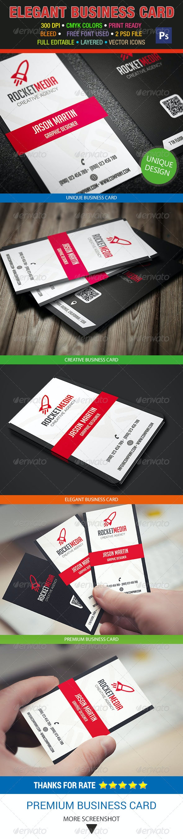 Creative Business Card 293 - Corporate Business Cards