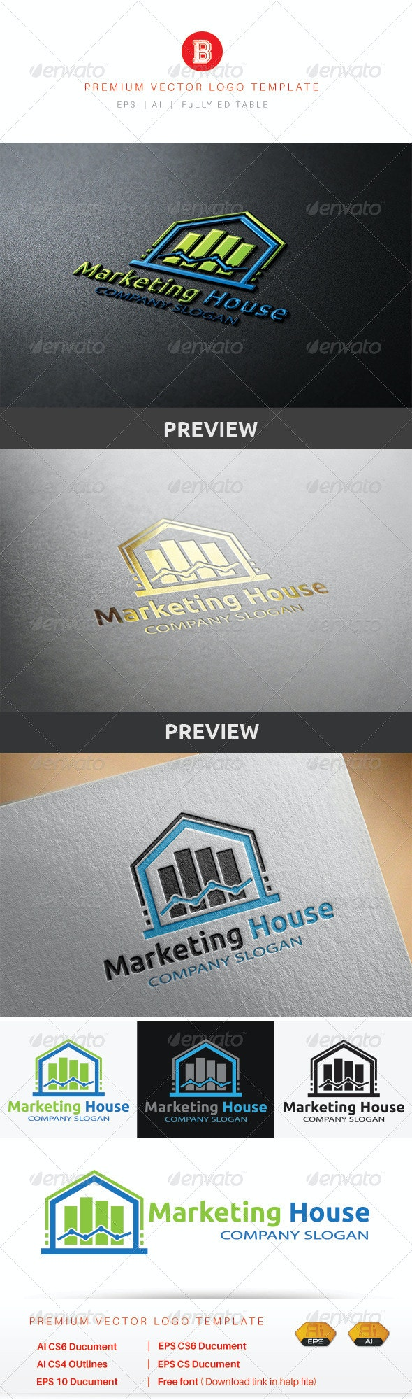 Marketing House - Buildings Logo Templates